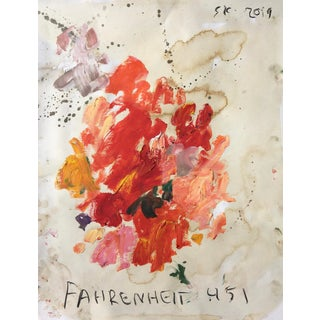 """Fahrenheit 451"" Abstract Oil Painting by Sean Kratzert For Sale"