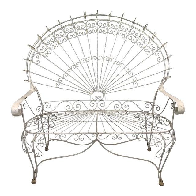 Mid-Century John Salterini CastIron Peacock Settee For Sale