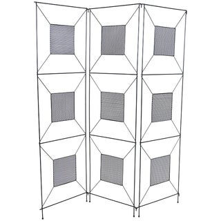 Frederick Weinberg Mid-Century Modern Geometric Iron Screen or Room Divider For Sale