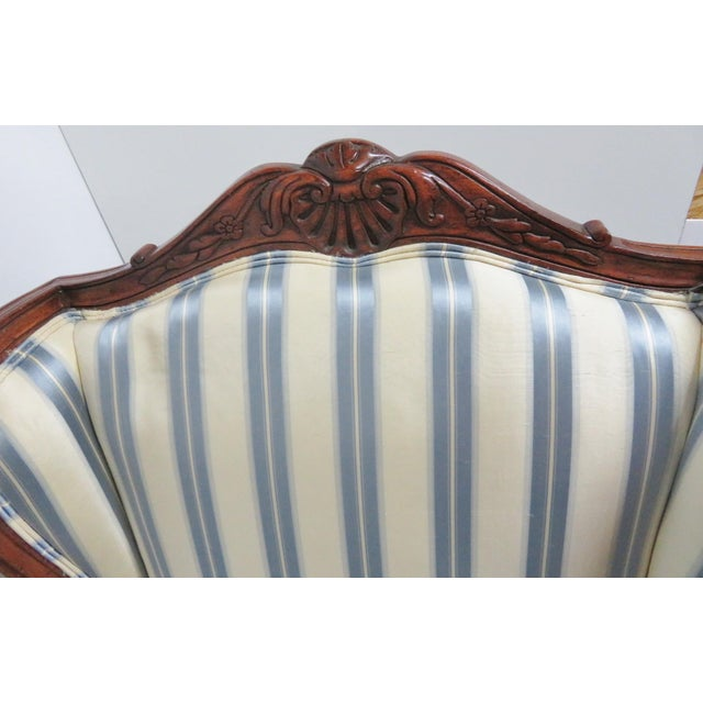 Louis XV Style Walnut Wing Chair For Sale In Philadelphia - Image 6 of 8