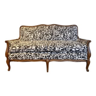 1930s Vintage French Settee For Sale