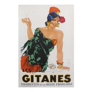 1931 French Art Deco Poster, Gitanes Cigarettes