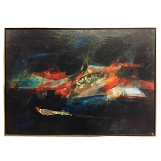 Original Mid Century Abstract by Patricia Zippin For Sale