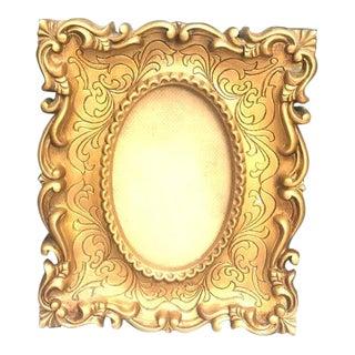 1950s Vintage Hollywood Regency Gold Frame For Sale