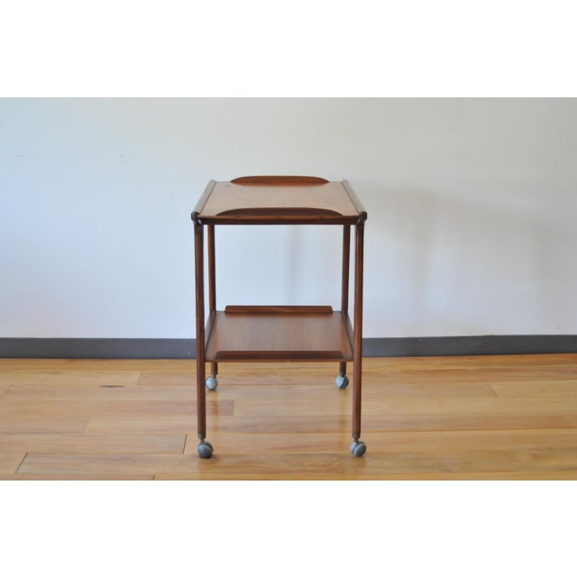 Contemporary Mid Century Modern Teak Bar Cart/Drinks Trolley For Sale - Image 3 of 8