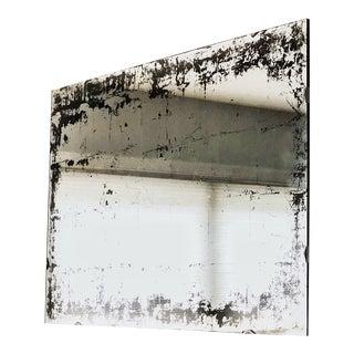Industrial Frameless Silver Leaf Verre Églomisé Wall Mirror For Sale