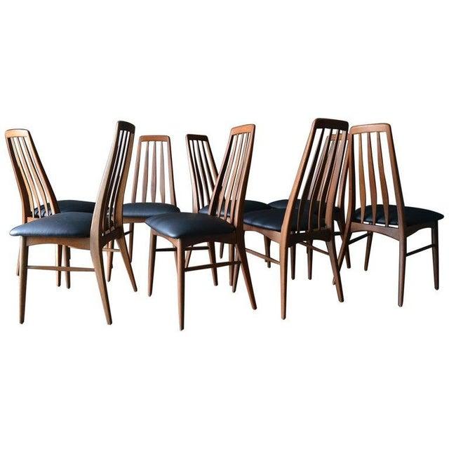 "1960s Vintage Koefoed of Denmark Walnut High Back ""Eva"" Dining Chairs - Set of 8 For Sale - Image 12 of 12"