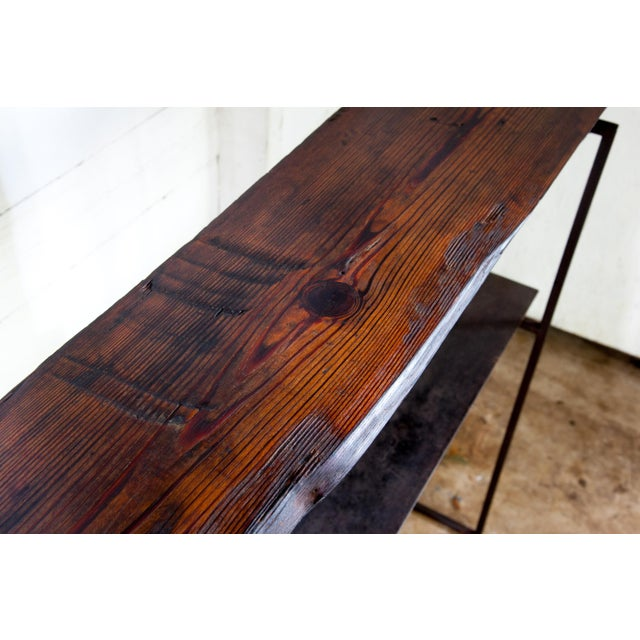 """Organic Modern Natural Edge Long-Leaf Pine Entry Console 39"""" For Sale - Image 4 of 6"""