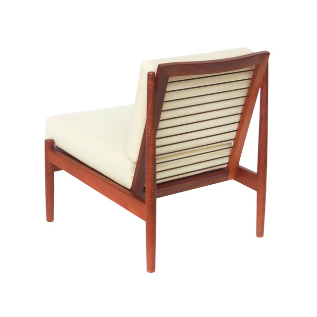 White Mid-Century Danish Modern Slipper Chairs - a Pair For Sale - Image 8 of 13