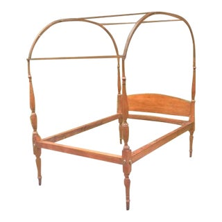 Antique Sheraton Period Canopy Bed For Sale
