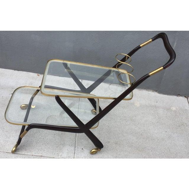 Italian 1950s Vintage Italian Cesare Lacca Bar Cart For Sale - Image 3 of 10