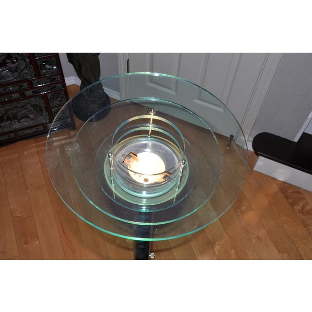 Designer 1990s Mid-Century Modern Acrylic Torchiere Floor Lamp For Sale - Image 9 of 10