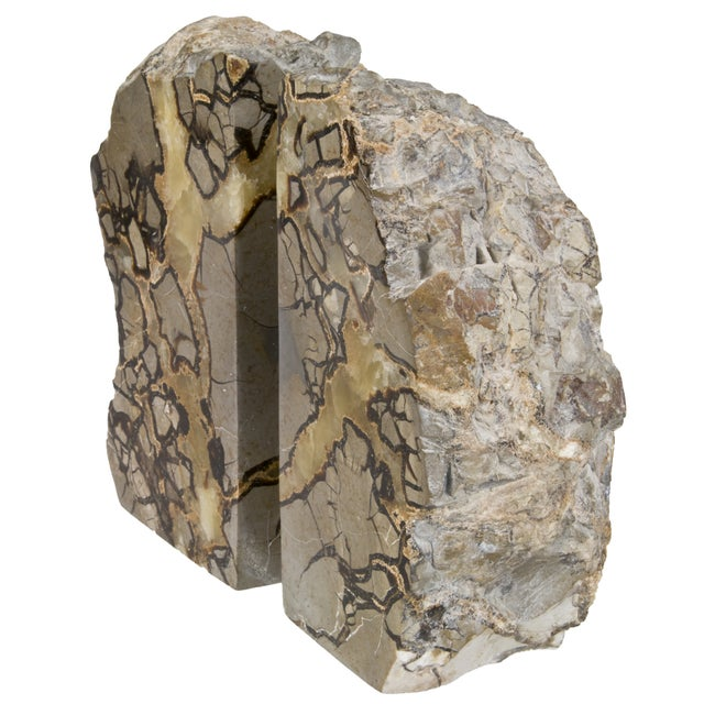 Polished Septarian Stone Bookends - A Pair - Image 2 of 5