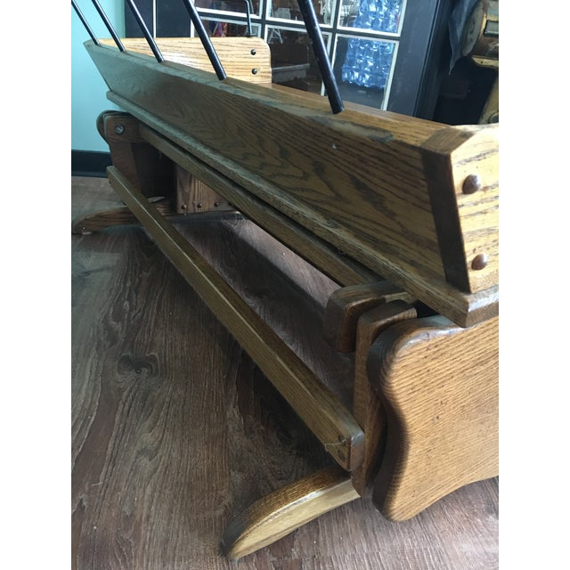 Antique Carriage Seat Glider Bench For Sale - Image 6 of 13