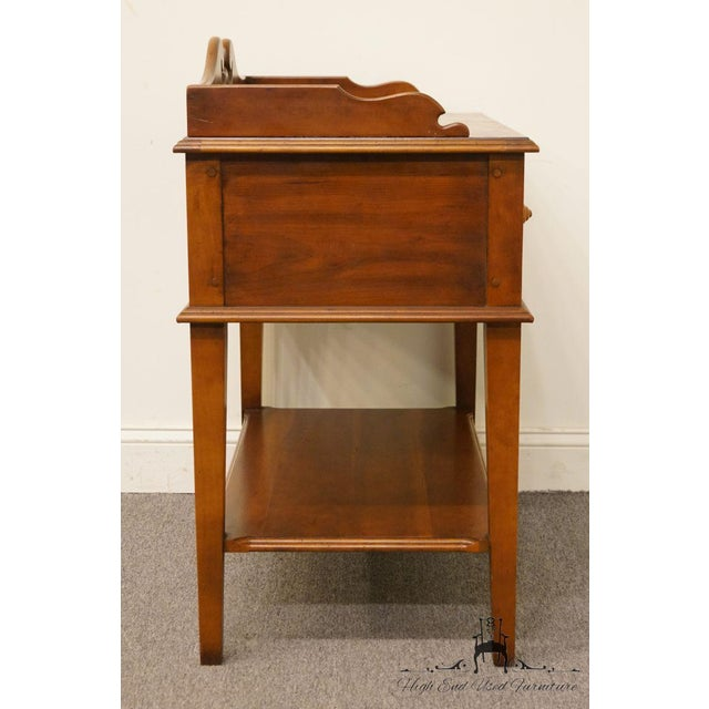 "Hickory Chair Solid Cherry Wood 29"" Accent Table / Nightstand For Sale - Image 11 of 13"