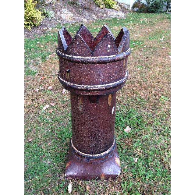 English salt glaze chimney pot, made between 1840 and 1880. These fabulous crown topped pots make fabulous planters,...