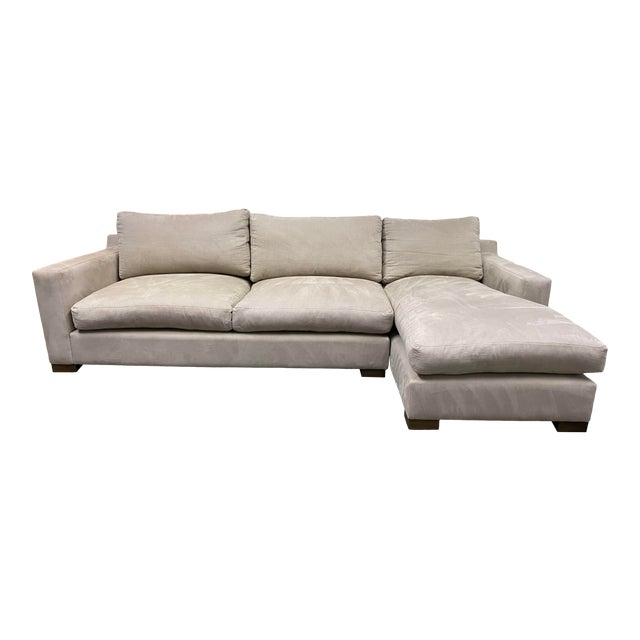 G. Ramono Micro Fiber Down Filled Two Piece Sectional For Sale