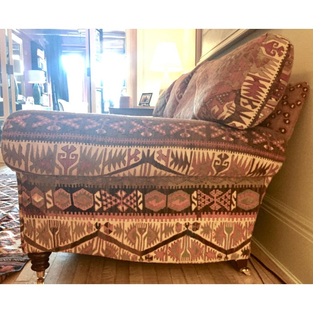 George Smith George Smith 8-Foot Kilim Sofa For Sale - Image 4 of 12