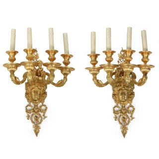 Mitchell Vance & Co Bronze Sconces - A Pair