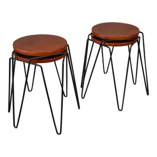 Set of Four Inco Stacking Stools