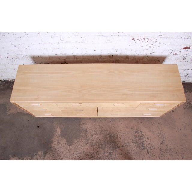Henredon Burl Wood Long Dresser Credenza by Henredon For Sale - Image 4 of 13