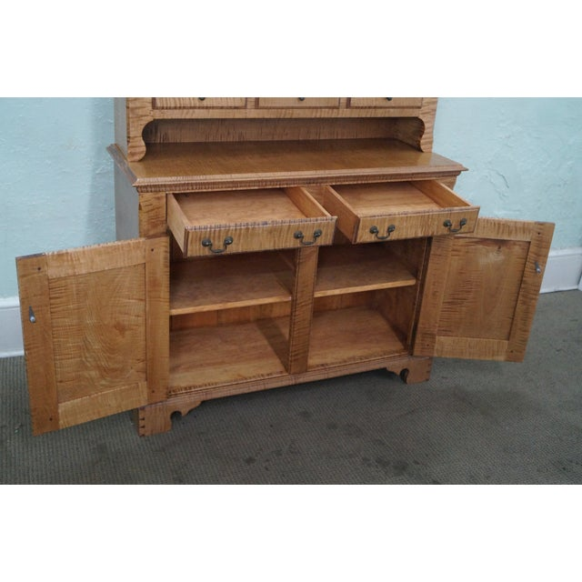 Custom Crafted Tiger Maple Dutch Cupboard - Image 5 of 10