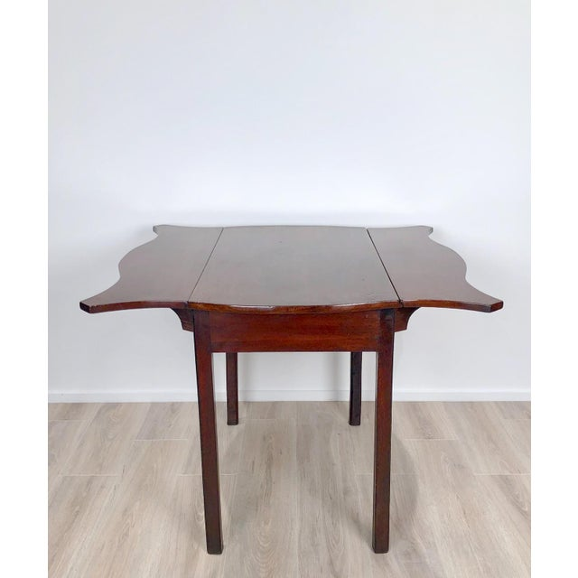 Brown Late 18th Century Serpentine Pembroke Table For Sale - Image 8 of 9