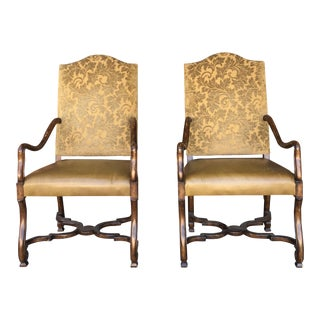 1950s Vintage Traditional Arm Chairs- A Pair For Sale