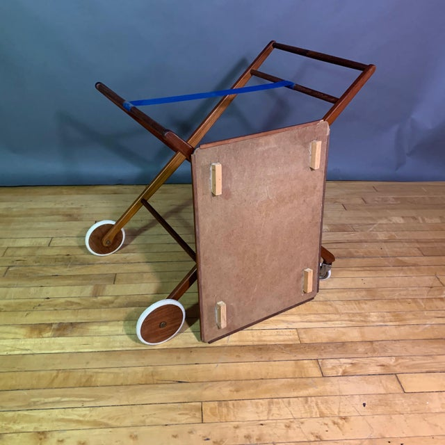 1970s Teak and Black Laminate Serving Trolley For Sale - Image 10 of 12