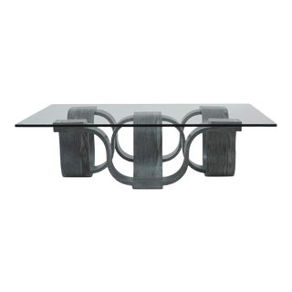 Square Coffee Table, Grey For Sale