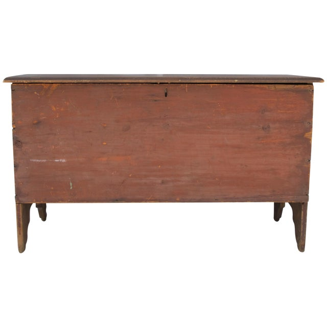 Original Red Painted Blanket Chest For Sale