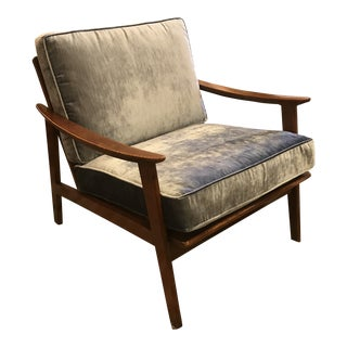 Hans Wegner Styled Restored Mid-Century Arm Lounge Chair