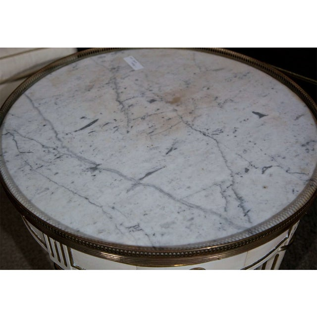 French Louis XIV Style Painted Gueridon Low Table For Sale - Image 5 of 8