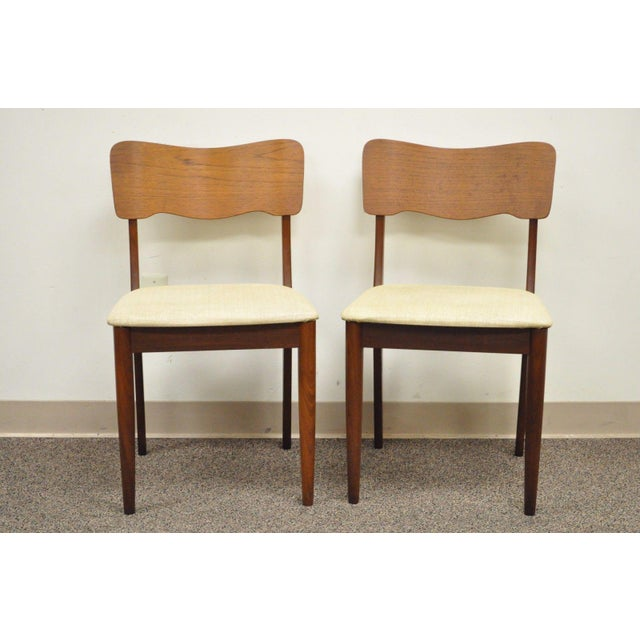 Gustav Bahus Norway Mid Century Danish Modern Teak Ribbon Dining Chairs - Set of 4 - Image 4 of 11