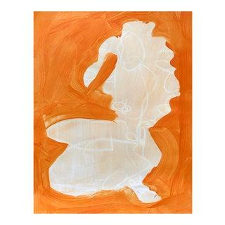 "Figurative Drawing, Ali in Orange #2 14x 17"" For Sale"