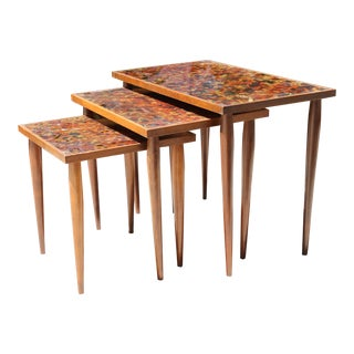 Vintage Mid Century Nesting Tables - Set of 3 For Sale