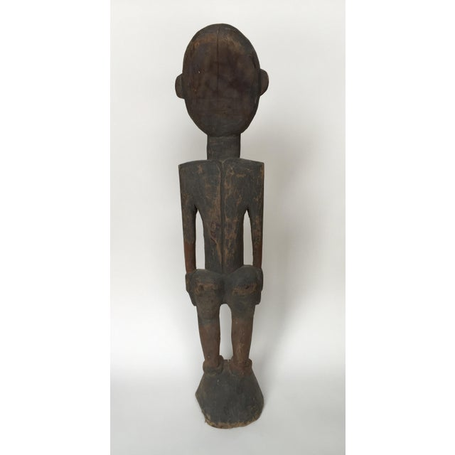 Sepik River Papua New Guinea Wooden Female Figure For Sale - Image 4 of 6