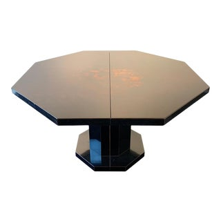 1970s Lacquered Wood Dining Table For Sale