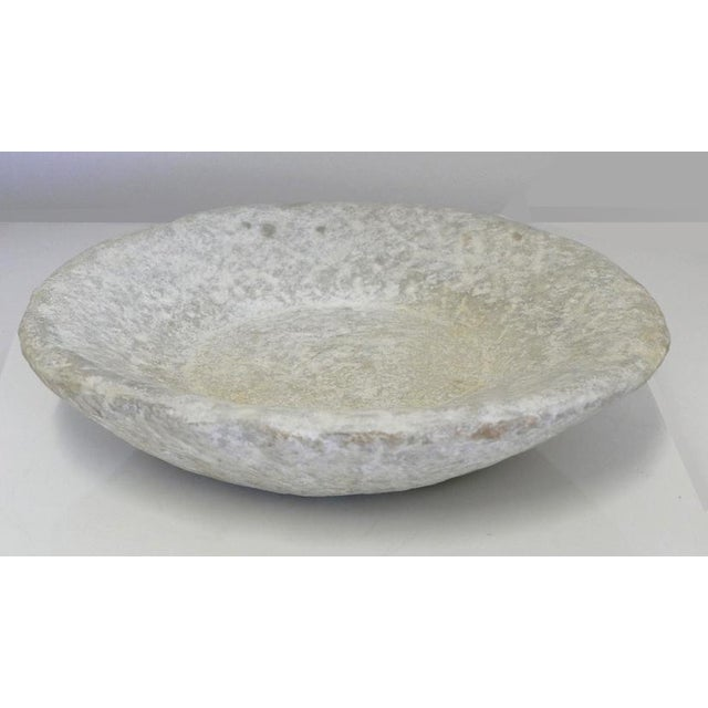 Mid-Century Modern Hand-Carved Stone Bowl For Sale - Image 3 of 6
