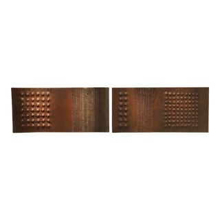 Monumental 1971 Pair of Wall Sculptures From Pierre Sabatier Commissioned by Maison Jansen For Sale