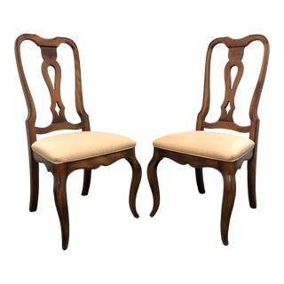 French Country Dining Side Chairs by Ethan Allen - Pair 2 For Sale