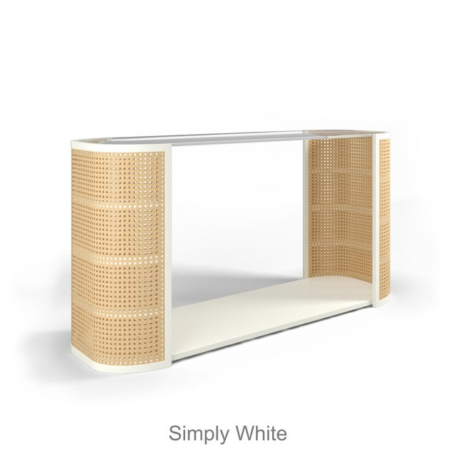 Contemporary Lola Console Table - Coral Dust For Sale - Image 3 of 6
