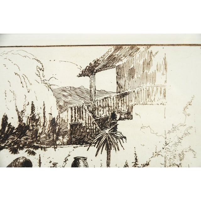 'Wishing Well' Original Etching Art - Image 6 of 7