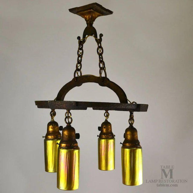Early 20th Century Craftsman Cast Iron Fixture For Sale - Image 5 of 13
