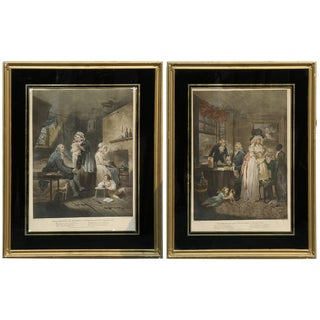18th Century Mezzotints After Prints by British Artist George Morland For Sale