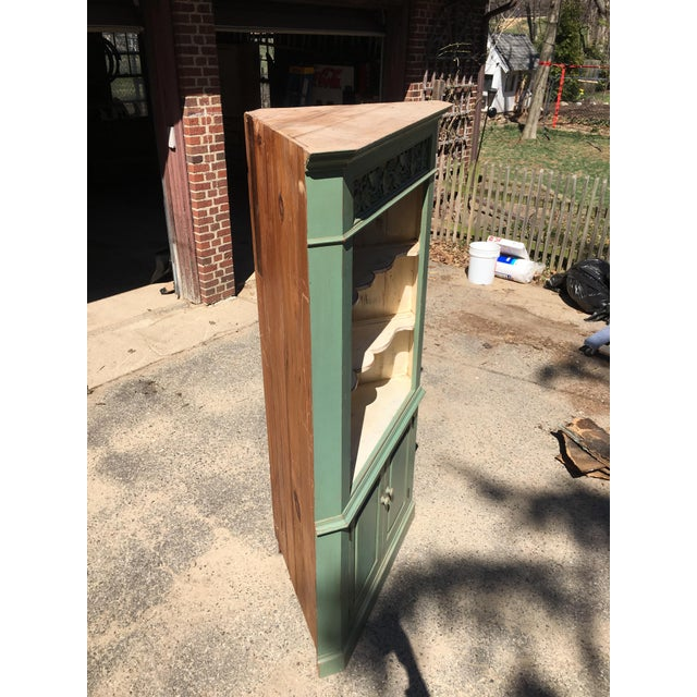 Green Reclaimed Farmhouse Hutch - Image 3 of 7