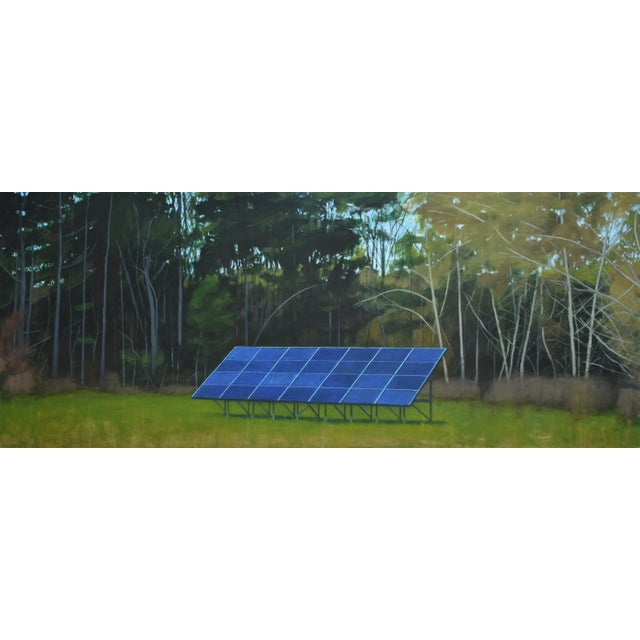 """""""Back Yard Solar Panels"""" Painting by Stephen Remick For Sale - Image 13 of 13"""