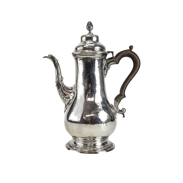 Charles Wright London George III Sterling Silver Coffee Pot For Sale