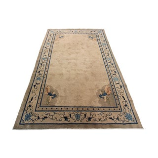 Antique Peking Chinese Art Deco Rug- 6' X 9' For Sale