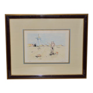 "Salvador Dali ""The Blue Elephant"" Color Etching Signed / Numbered For Sale"